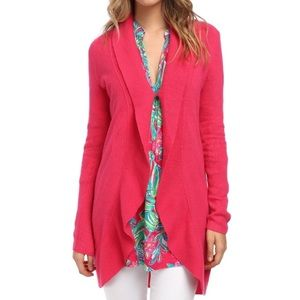Lilly Pulitzer Pink Lindsay Cashmere Cardigan